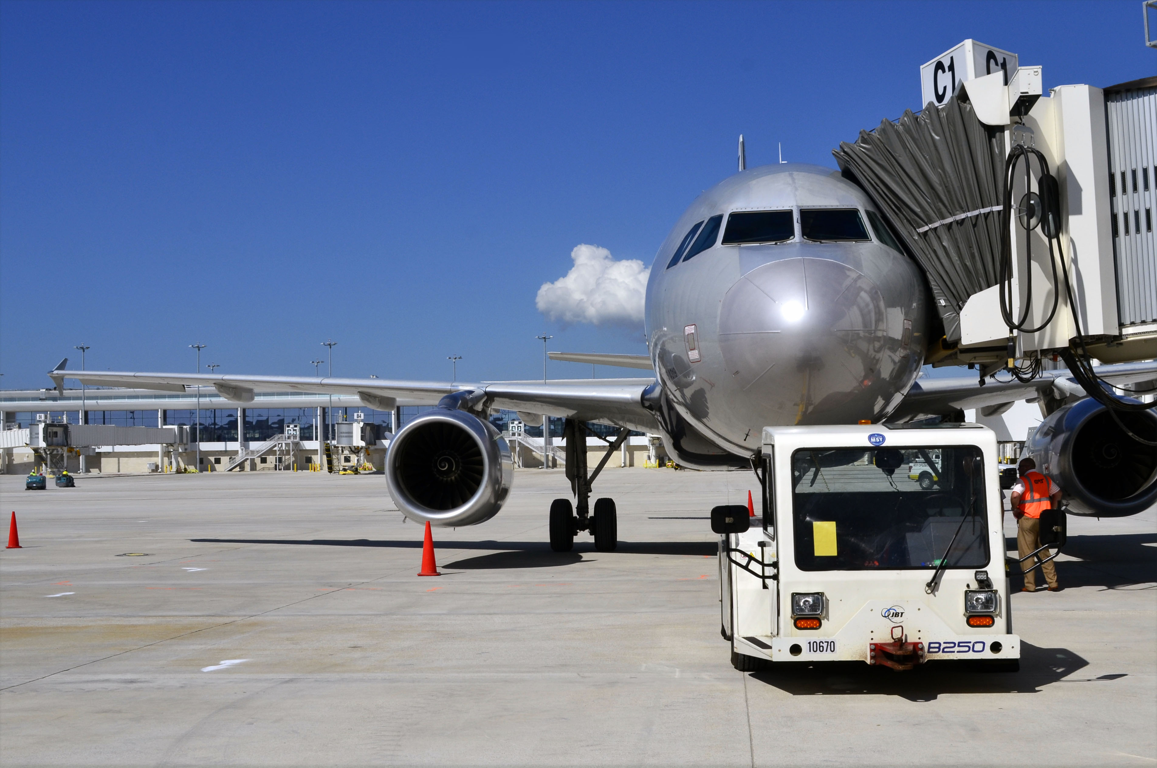 Airplane on ramp