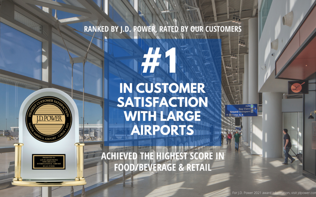 New Orleans Airport ranked best large airport in North America by J.D. Power